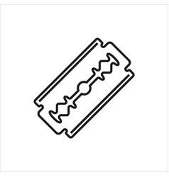 Blade razor icon on white vector