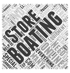 Boating store word cloud concept vector