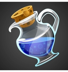 cartoon potion bottle vector image