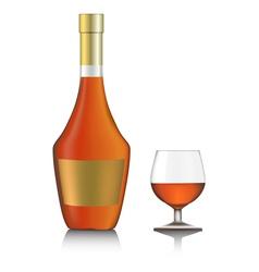 cognac bottle vector image