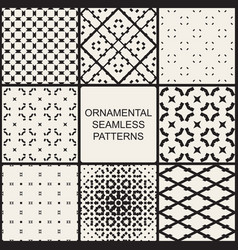 collection of ornamental geometric seamless vector image vector image