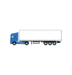 commercial cargo truck isolated icon vector image