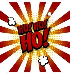 Santa hohoho Speech comic text halftone blue vector image