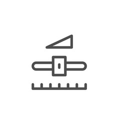 settings line icon vector image