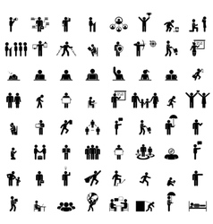Business people life signs on white vector image