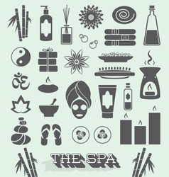Day at The Spa Icons and Symbols vector image