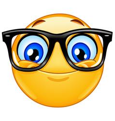 emoticon with eyeglasses vector image vector image