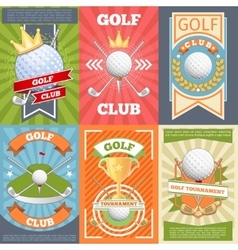 Golf club posters vector image