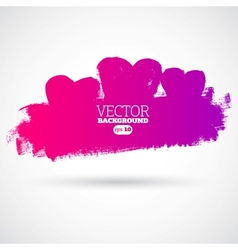 Graphic grunge hearts ink splatter vector image