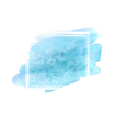 teal watercolor grunge frame vector image vector image
