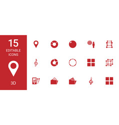 3d icons vector