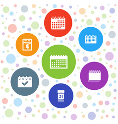 7 month icons vector
