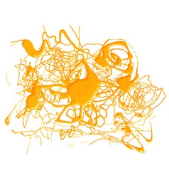 Abstract splash yellow color vector