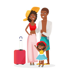 Afican american family on vector