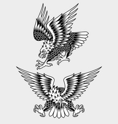 american screaming eagle tattoo vector image