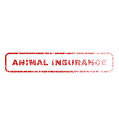 Animal insurance rubber stamp vector