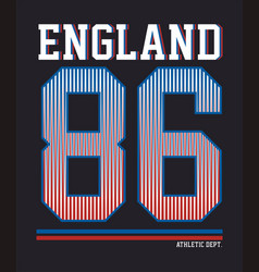 Athletic dept england vector
