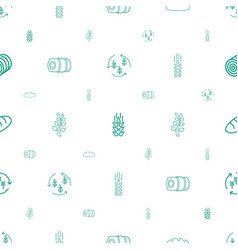 barley icons pattern seamless white background vector image