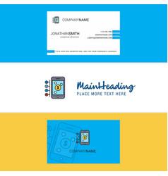 Beautiful money through smartphone logo and vector