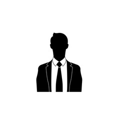 businessman icon black on white background vector image