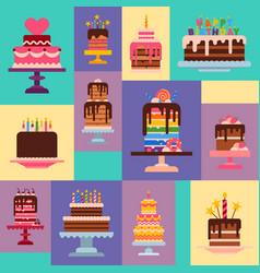 cake shop pattern chocolate vector image