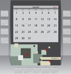 Calendar 2012 year vector