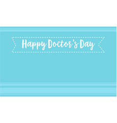 card for world doctor day style vector image