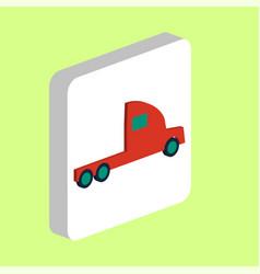 Cargo truck computer symbol vector