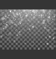 christmas snow magic new year snowfall background vector image
