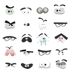 Comic eyes set vector