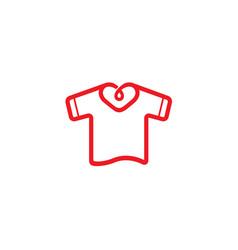 creative unique heart neck tshirt design logo vector image