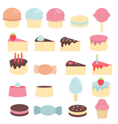 Cute sweets and candy cute sweets and candy vector