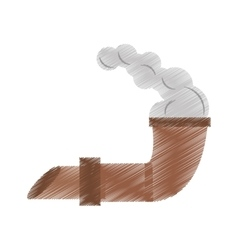 Drawing pirate tobacco pipe smoke vector