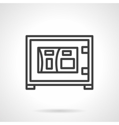 Electronic safe box black line icon vector image