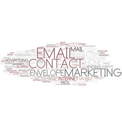 Email word cloud concept vector