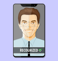 facial recognition system concept vector image