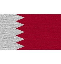 Flags bahrain on denim texture vector