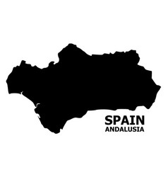 Flat map andalusia province with name vector