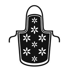 flower apron icon simple style vector image