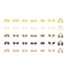 Gestures emoji vector image