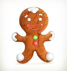 Gingerbread man icon vector image