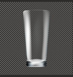 glass transparent background vector image
