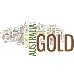 gold in australia text background word cloud vector image