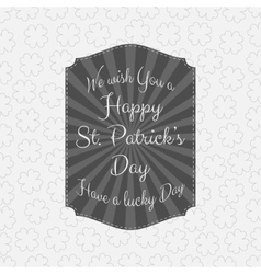 Happy Saint Patricks Day striped Banner vector image