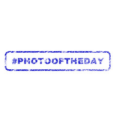 Hashtag photooftheday rubber stamp vector