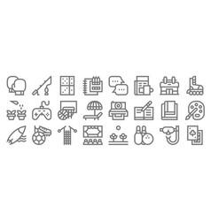 Hobbies line icons linear set quality line set vector