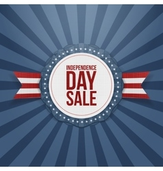 Independence Day Sale realistic Badge vector image