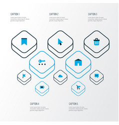 Interface icons colored set with chatting privacy vector