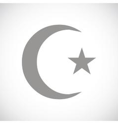 Islam black icon vector