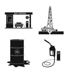 isolated object of oil and gas symbol collection vector image